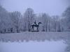 Parque Tiergarten no inverno