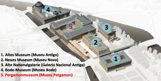 Museu Pergamon na Ilha dos Museus em Berlim