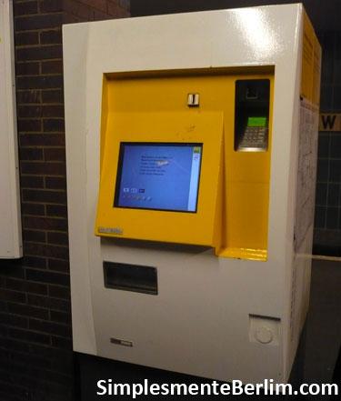 Máquinas automáticas do BVG