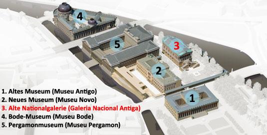 Alte Nationalgalerie na Ilha dos Museus