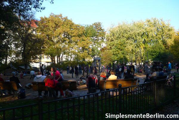 Playground no parque Friedrichshain