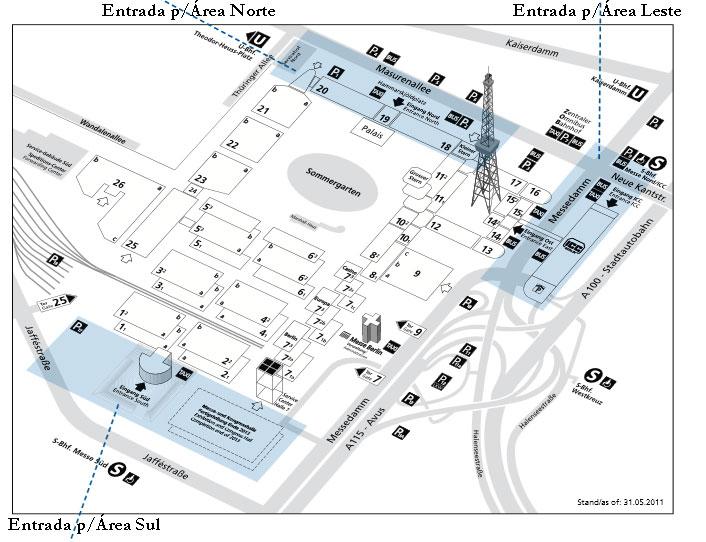 Mapa Messegelände