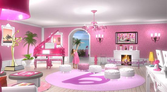 Barbie the dreamhouse experience a casa de sonho da barbie for Sala de estar barbie