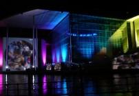 Filme à ceu-aberto e show de luzes em Berlim