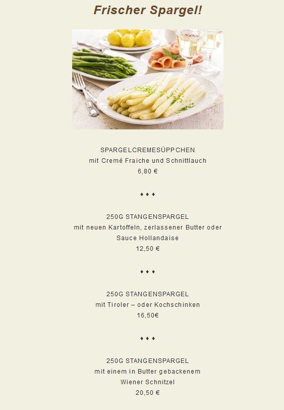Um exemplo de Cardápio de aspargos (Fonte: www.friedrichs106.de)