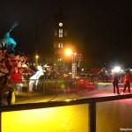 Pista de patinação na fonte de Netuno