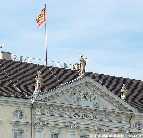 Bandeira do presidente alemão no Palácio Bellevue - a residência oficial