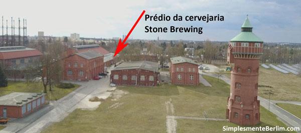 Localização do prédio da Stone Brewing