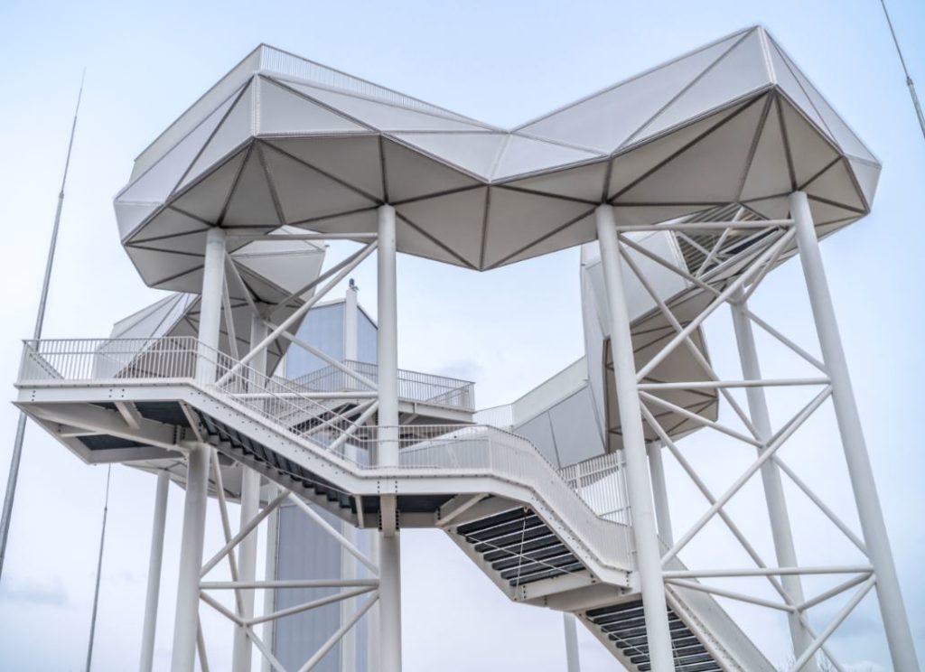 """A """"Wolkenhain"""", a plataforma de observação (Fonte: iga-berlin-2017.de)"""