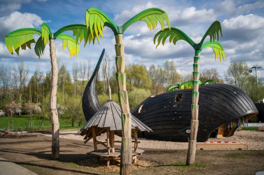 Um dos playgrounds para as crianças (Fonte: iga-berlin-2017.de)