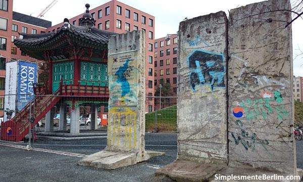 Restos do Muro de Berlim -Pavilhão Coreano