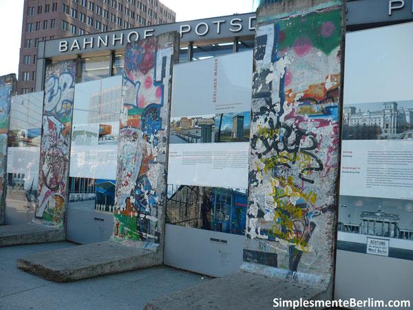 Restos do Muro de Berlim - Potsdamer Platz